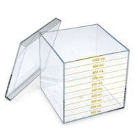 Liter Cube - Demonstrate the relation of length, area and volume with the use of this clear, acrylic liter cube.