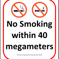 No Smoking within 40 megameters