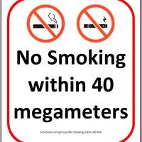 No Smoking within 40 megameters
