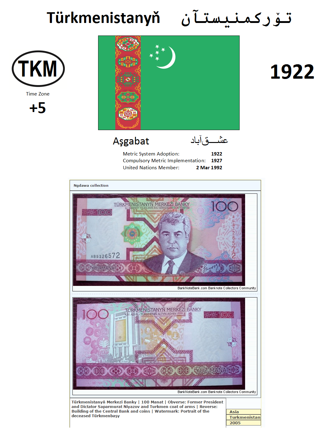 102 TKM Turkmenistan