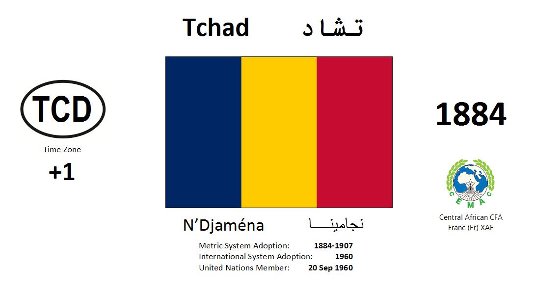 Flag 112 TCD Chad