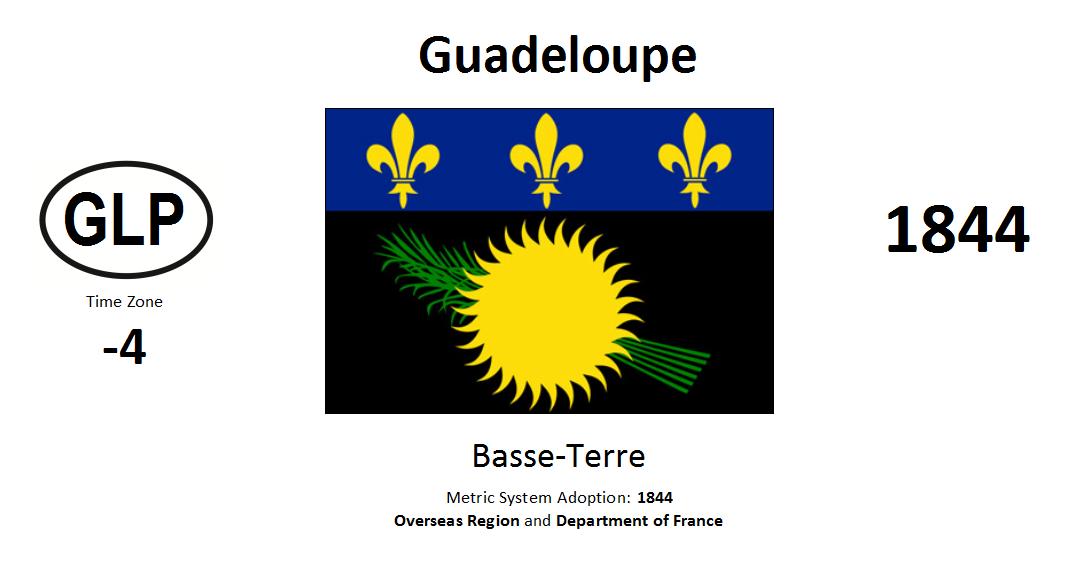 Flag 13 GLP Guadeloupe [FRA]