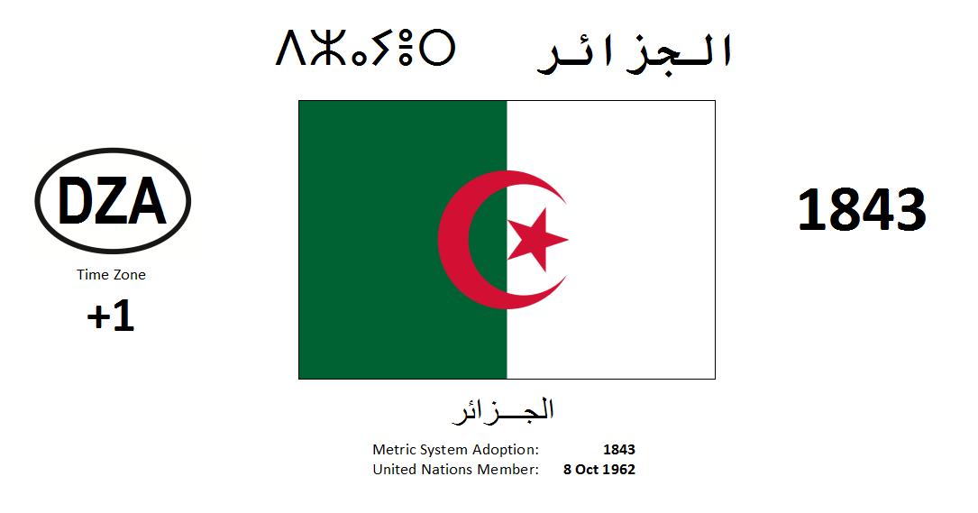 Flag 132 DZA Algeria