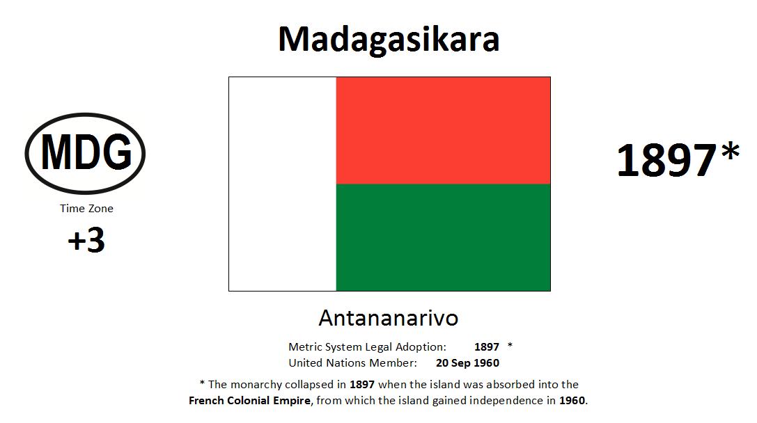 Flag 136 MDG Madagascar