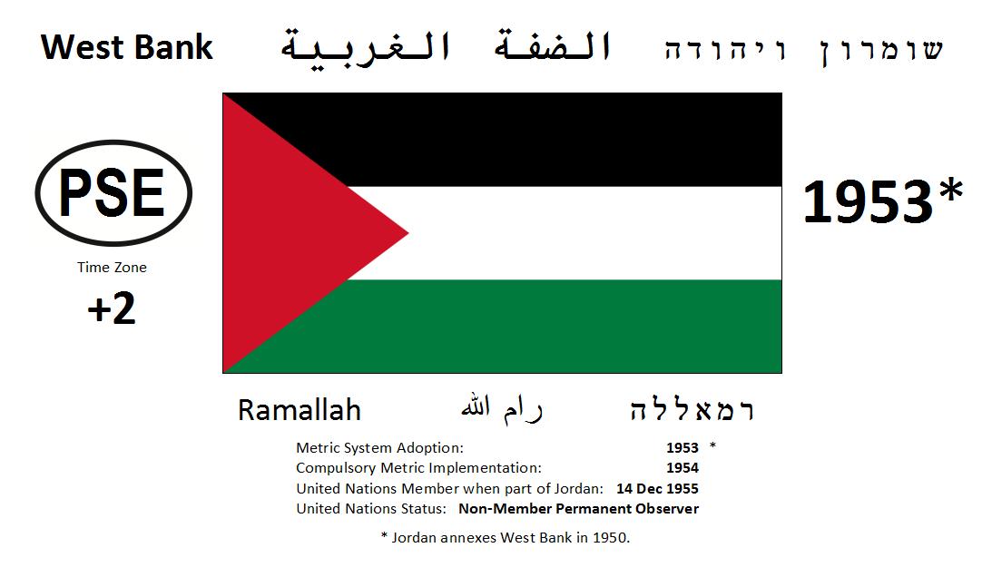 Flag 156 PSE Palestine West Bank