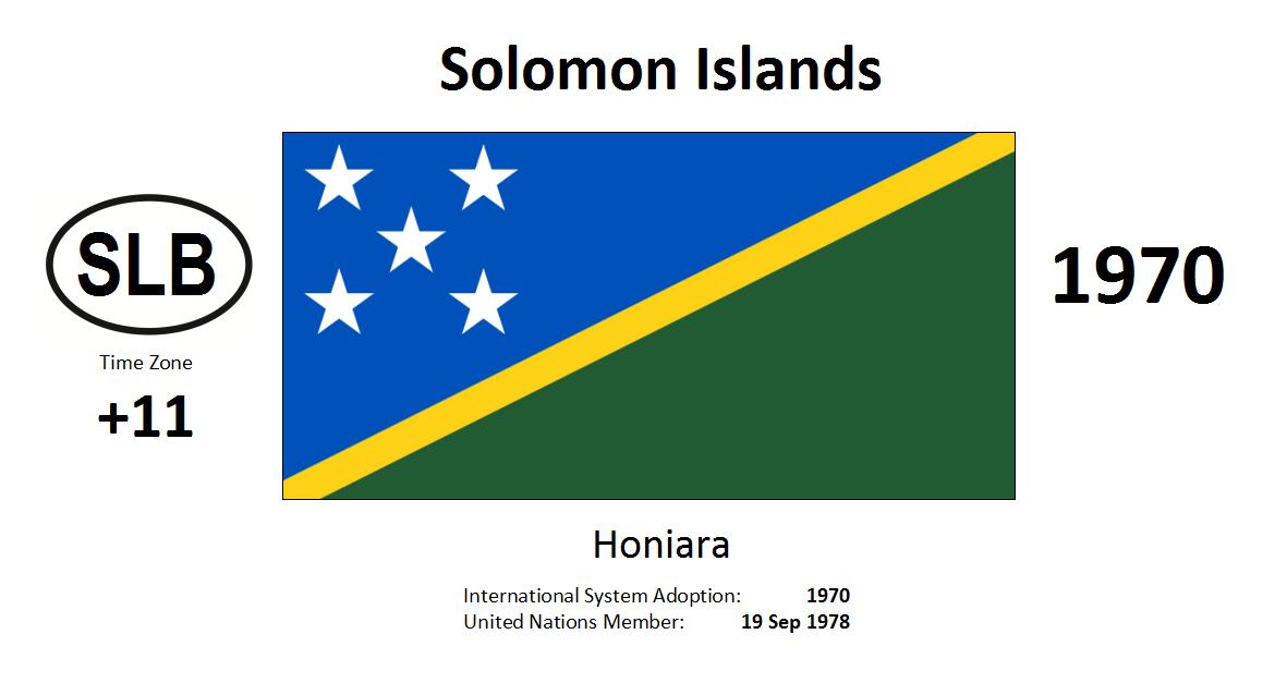 Flag 177 SLB Solomon Islands