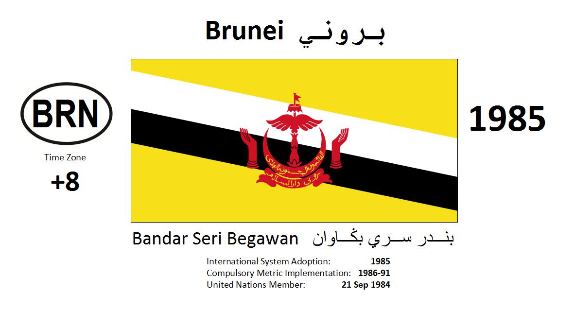 Flag 186 BRN Brunei Darussalam