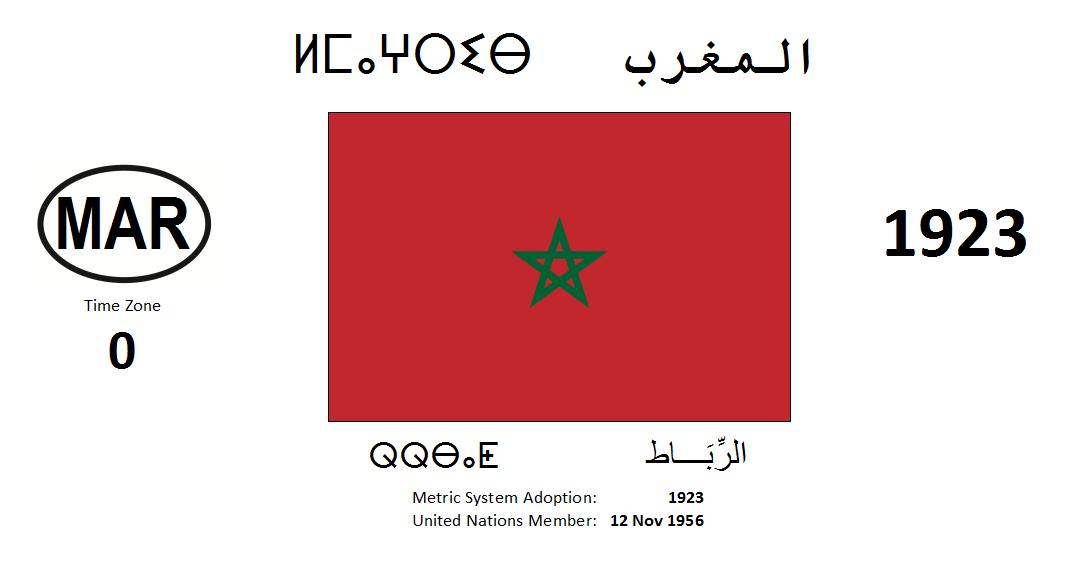 Flag 19 MAR Morocco