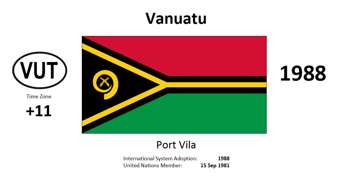Flag 147 VUT Vanuatu