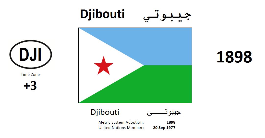 Flag 149 DJI Djibouti