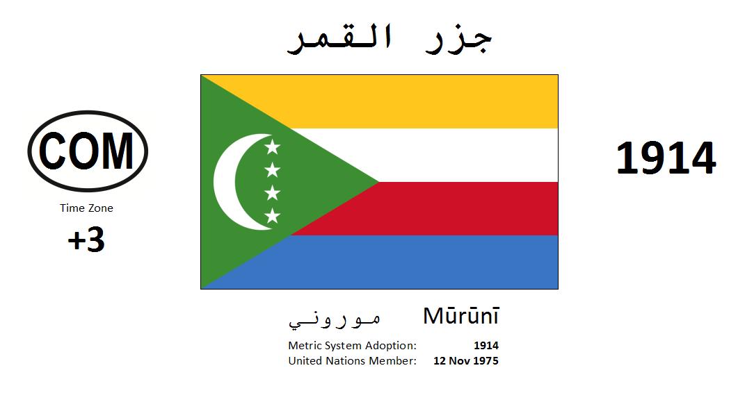 Flag 152 COM Comoros