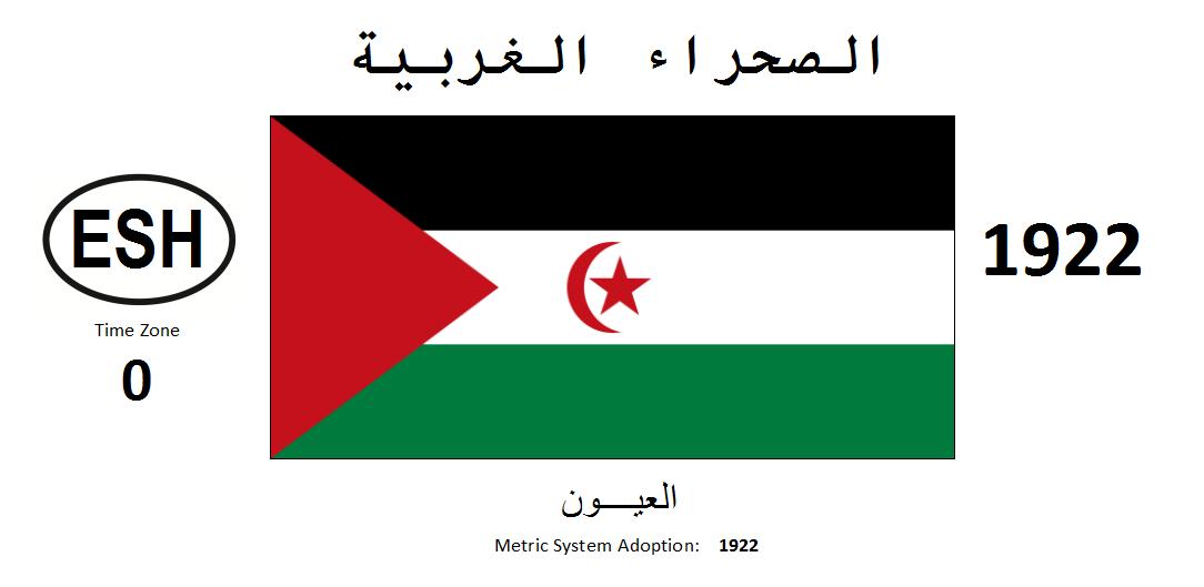 Flag 158 ESH Western Sahara