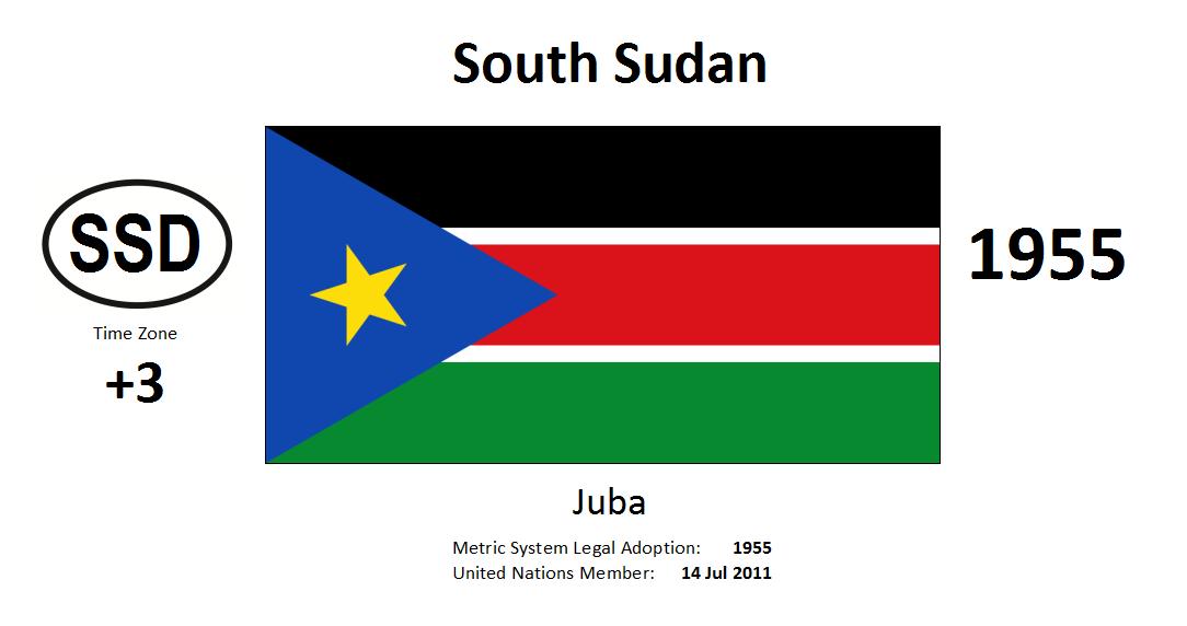 Flag 159 SSD South Sudan