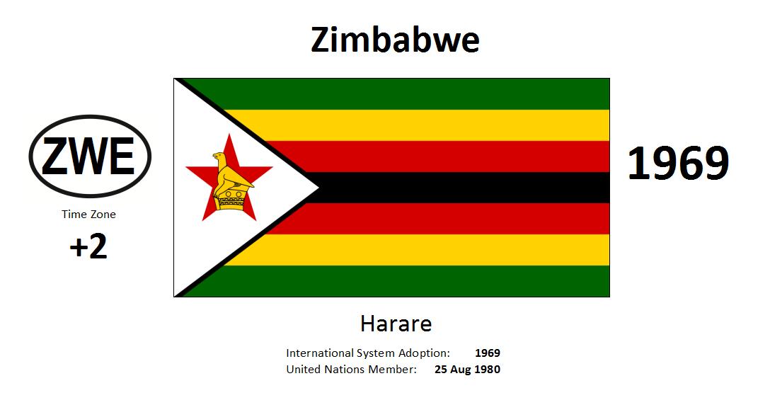 Flag 165 ZWE Zimbabwe