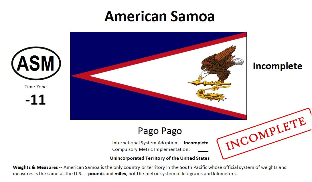 Flag 170 ASM American Samoa [USA]