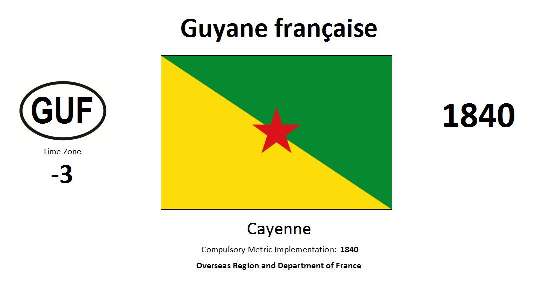 Flag 184 GUF French Guiana [FRA]