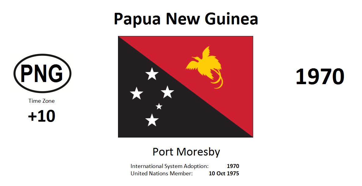 Flag 185 PNG Papua New Guinea