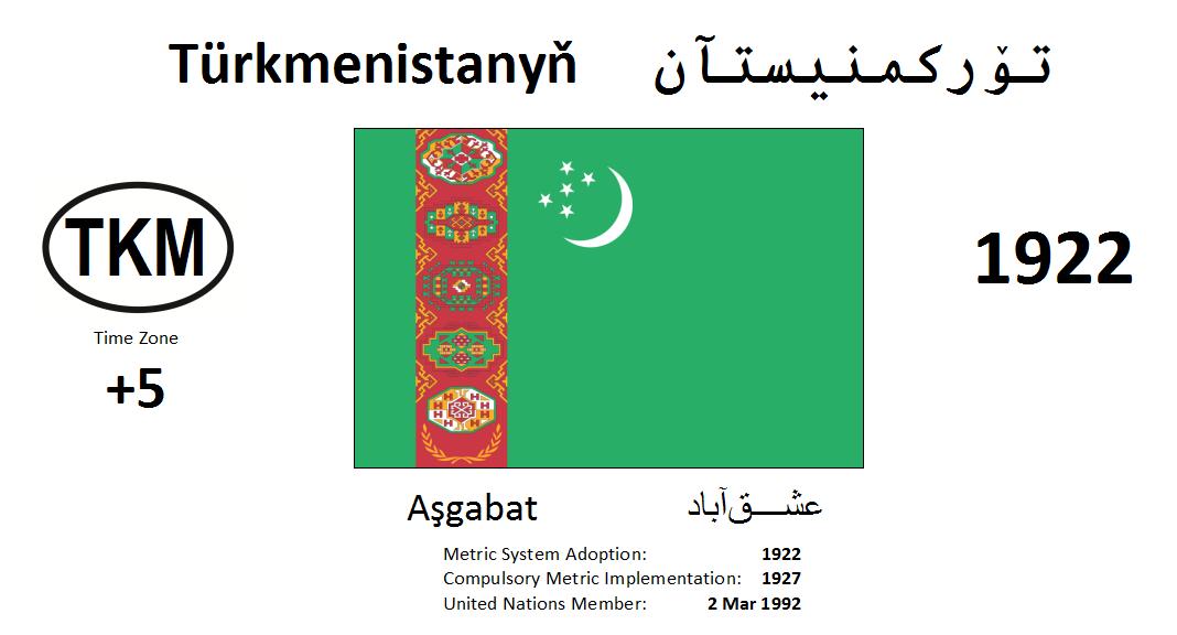 Flag 26 TKM Turkmenistan