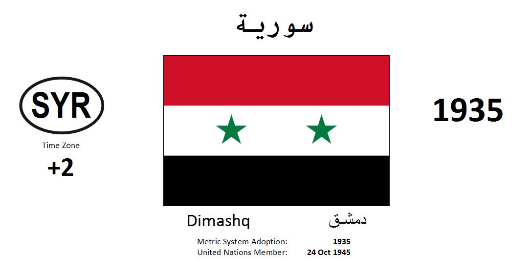 Flag 58 SYR Syrian Arab Republic